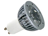 3W LED LAMP - COLD WHITE (6400K) - 230V - GU10