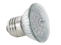 BLAUWE LED LAMP - E27 - 240VAC - 18 LEDs